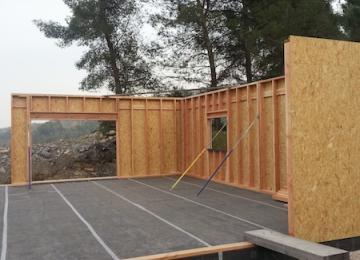 Montage murs ossature bois normes RT 2012