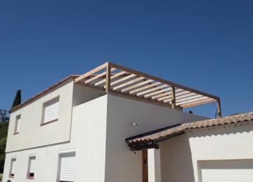 Etage supplémentaire+terrasse+pergola bois