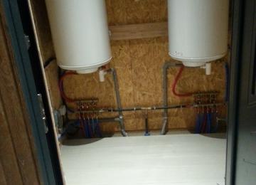Production d'eau chaude dans le local technique