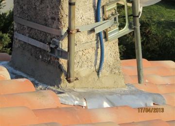 Rénovation de la zinguerie de la cheminée
