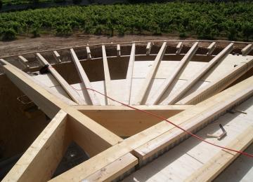 Bâtiment vinicole : cuverie 380 m2 : 1ère partie