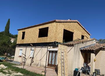 toiture posée, préparation terrasse