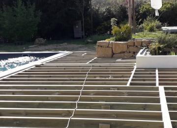 Structure auto-portée de la terrasse