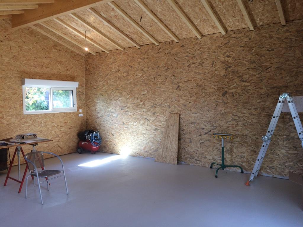 Construction neuve atelier menuiserie 59 m2 actualit s for Construction mur interieur