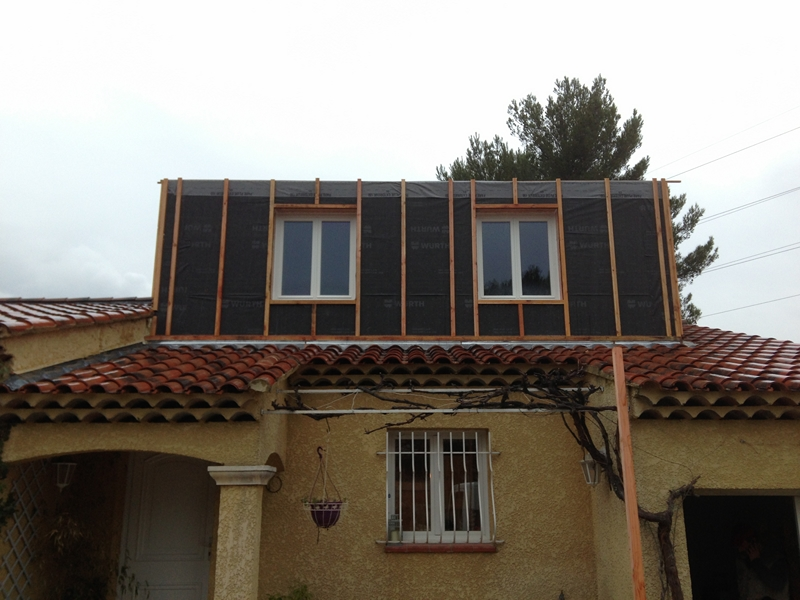 Extension d 39 un tage 55 m2 gardanne 13 for Extension bois etage