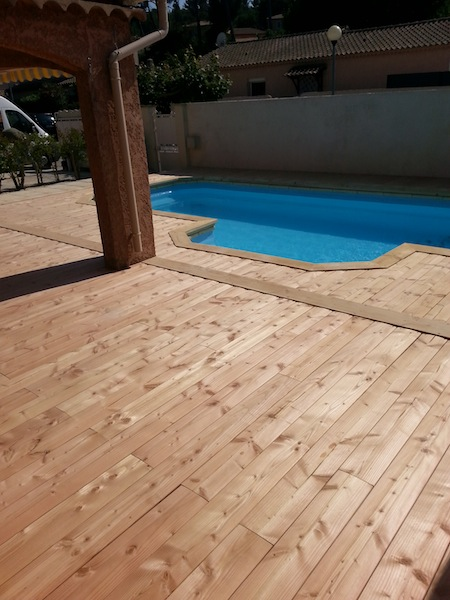 Douglas Bois Fiche Technique : plage de piscine en bois de 70m2 go?tez au confort du bois pour votre