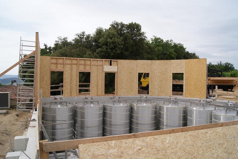 B timent vinicole cuverie 380 m2 1 re partie for Cout batiment industriel m2